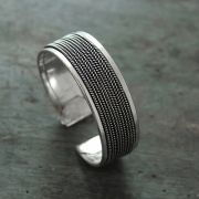 Indian silver fancy bangle