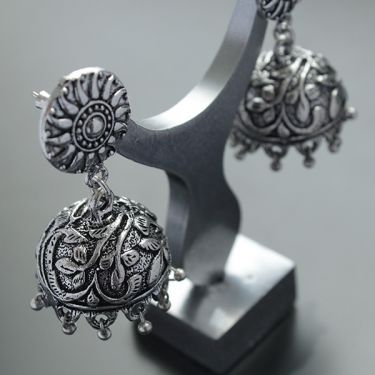Indian earrings Jhumka traditional