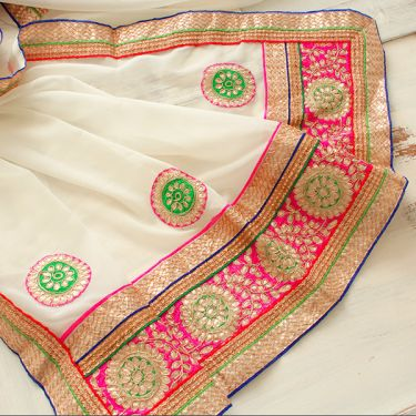 Indian saree white
