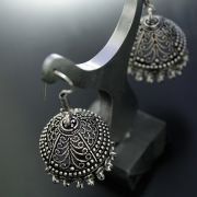 Jhumka Indian earrings round