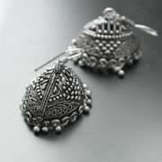 Jhumka Indian earrings oval