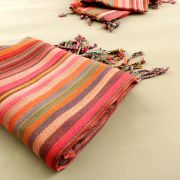 Indian shawl or scarf cotton pink