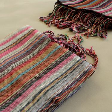 Indian shawl or scarf cotton colorful