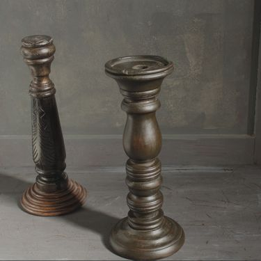 Indian antique wooden candle stand