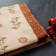 Indian saree traditional embroidery