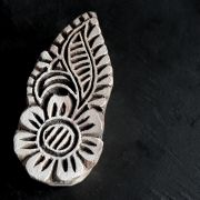 Indian wooden printing block Floral