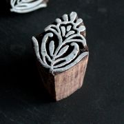 Indian wooden printing block Lotus