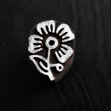 Indian wooden printing block Small flower