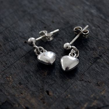 Silver Indian earrings elegant