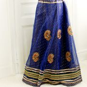 Indian skirt Lehenga blue