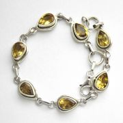 Indian bracelet silver and citrines