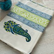 Indian printed table cover blue and green