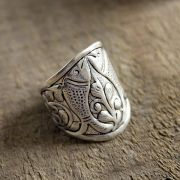 Indian metal ring for man Fish