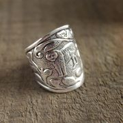 Indian metal ring for man Lion