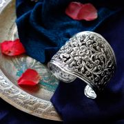 Indian silver fancy antique bangle