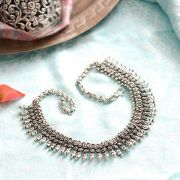 Indian metal ethnic necklace