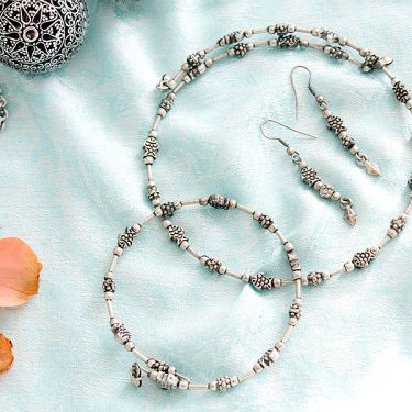Indian metal handicraft jewelry set fish