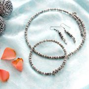 Indian metal handicraft jewelry set