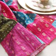 Couverture indienne artisanale