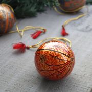 Christmas handicraft pendant ball red and black