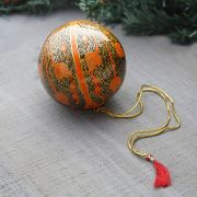 Christmas handicraft pendant ball orange and black
