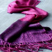 Indian scarf colorful and shiny purple and black