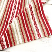 Indian handicraft carpet red and white Dari