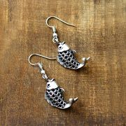 Fancy Indian earrings metal fish