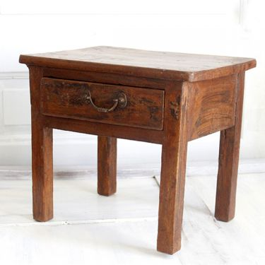 Indian antique wooden chai table
