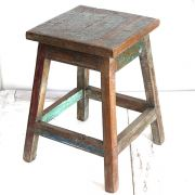 Indian antique wooden stool Chai wala