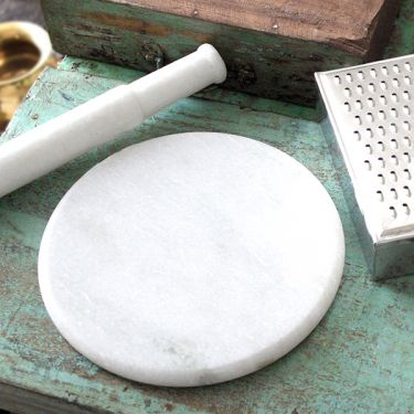 Marble board and roller for chapati Ø22