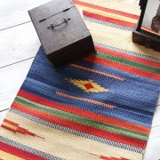 Carpet Indian handicraft Dari blue and red