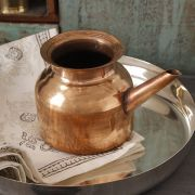 Indian copper jug Ram jhara Ø10