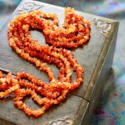 Long Indian necklace orange stones