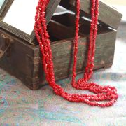 Long Indian necklace red stones