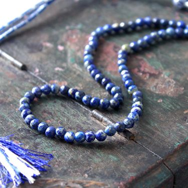 Adjustable Indian necklace blue