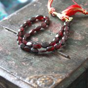 Adjustable Indian necklace garnet