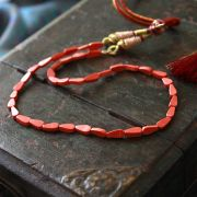Collier réglable indien corail rose