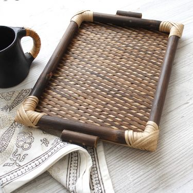 Indian bamboo tray for service